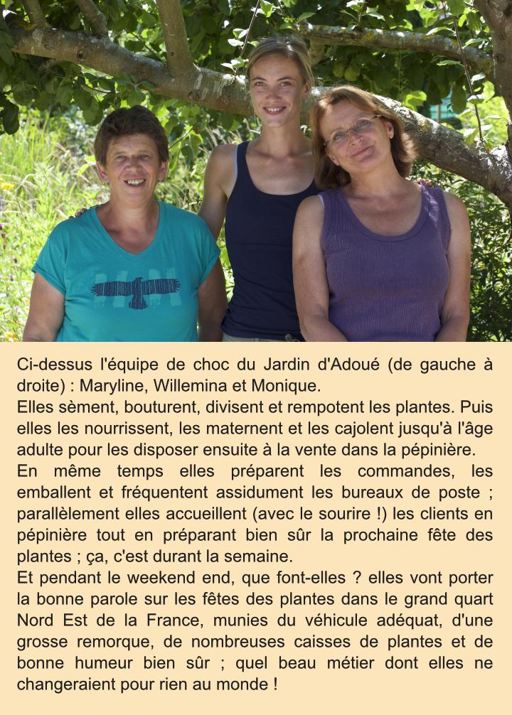 L'équipe du Jardin d'Adoué