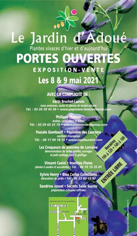 Les Journées portes ouvertes au Jardin d'Adoué les 8 et 9 mai 2021